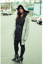 Zara boots - Urban Outfitters dress - American Apparel hat