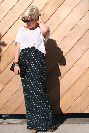 maxi steven alan skirt - Steve Madden boots - free people shirt