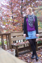 scarf - shirt - skirt - Mossimo sweater - tights - Report shoes