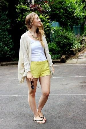 Zara shorts - Zara cardigan