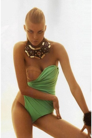 chartreuse haute swimwear