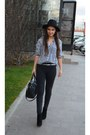 Black-bfashion-boots-black-terranova-hat-white-zara-shirt-black-h-m-bag