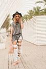 Heather-gray-cotton-zara-dress-white-ripped-bershka-jeans