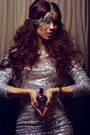 Silver-sequin-exclusives-dress-magenta-perfumes-marab-accessories