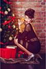 Black-black-maia-ratiu-dress-silver-silver-charline-de-luca-heels