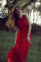 ruby red Mango dress