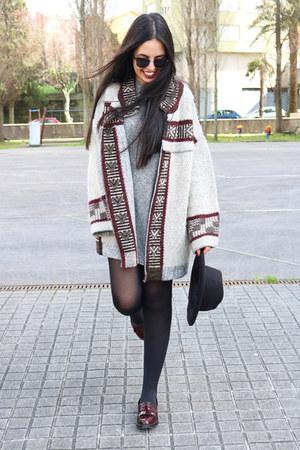 heather gray pull&bear dress - black Parfois hat - heather gray Zara jacket