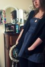 Blue-heritage-dress-black-target-cardigan-black-target-leggings-pink-yard-