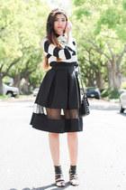 black Express skirt - black Forever 21 shoes - white Forever 21 shirt