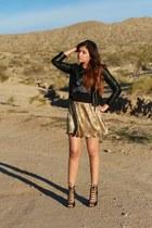 gold Forever 21 skirt