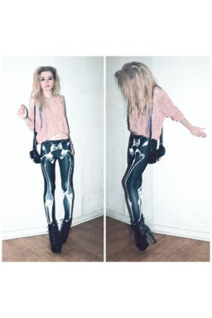 Jeffrey Campbell boots - skeleton romwe leggings