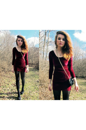 red velvet American Apparel dress