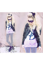dimepiece sweatshirt - hm H&M jacket - lavagrantbelle shop leggings