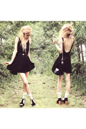 H&M dress - black suede Michael Kors bag
