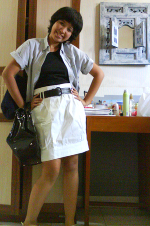 calvin klein shirt - - belt - Mango skirt - balenciaga accessories - URS