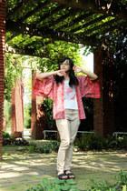 salmon batik batik keris top - white lacey Cache Cache shirt