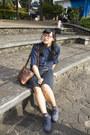 Heather-gray-mks-shoes-navy-striped-boyfriend-shirt