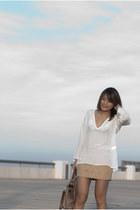 Zara blouse - Aldo boots - Forever21 skirt
