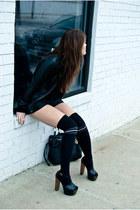 leather SWORD jacket - aa shorts