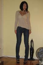 victoria secret bra - calvin klein sweater - American Eagle jeans - Steve Madden