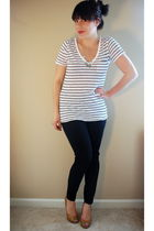 black Old Navy jeans - white Old Navy top