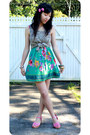 Bubble-gum-risque-wedges-aquamarine-supre-dress