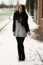 heather gray Monki sweater
