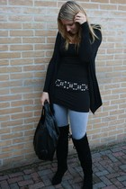 Vero Moda vest - Vila top - Zara belt - Only jeans - Sacha boots - H&M purse