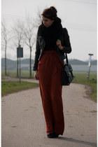 black H&M jacket - brick red Suzanne Dikker skirt