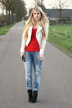 H&M top - H&M jacket - Zara jeans - New Yorker shoes