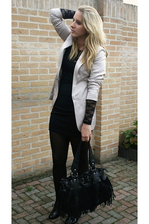 H&amp;M blazer - H&amp;M dress - H&amp;M shoes
