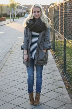 Primark coat - H&amp;M top - Zara shoes - H&amp;M jeans