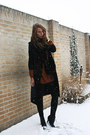 Black-monki-coat-burnt-orange-monki-sweater