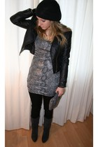 H&M jacket - Vero Moda dress - H&M leggings - H&M purse - Dolcis boots