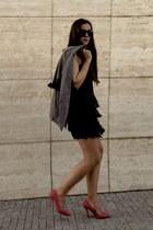 fringe skirt - oversized blazer