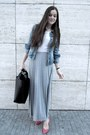 Denim-jacket-maxi-skirt-heels