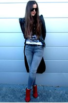 jacket - ankle boots boots - jeans jeans