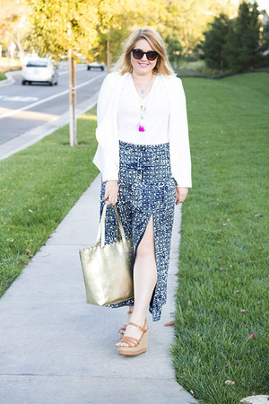 blue maxi skirt Michael Kors skirt - white Mercer & Madison blazer