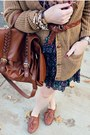 Camel-h-m-sweater-brogues-charlotte-russe-shoes-floral-h-m-dress