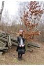 Navy-zara-jacket-silver-orsay-sweater-black-cropp-town-skirt