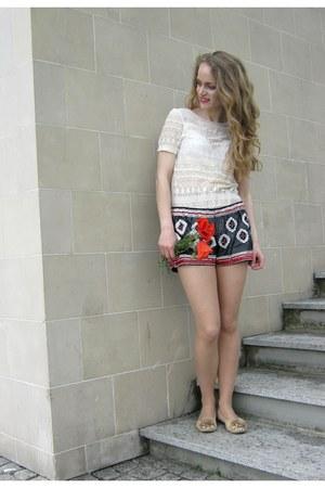Zara shorts - Zara blouse