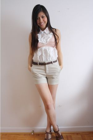 Talula bra - Forever 21 blouse - Zara shorts - Zara belt - Aldo shoes - DIY Miu