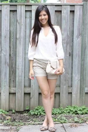 Zara blouse - Zara shorts - random - Zara shoes