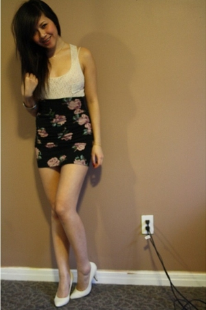 Forever 21 lace top - Talula skirt - Forever 21 accessories - Aldo shoes