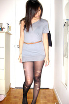 Kinsley top - DIY tights - wilfred belt