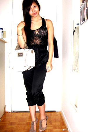 DIY top - H&M pants - Mango purse - Steve Madden shoes