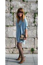 H&M dress - H&M tights - vintage necklace - Lodi shoes -