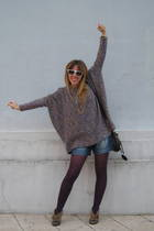 H&M sweater - H&M shorts - Ulanka boots - Lollipops purse - vintage necklace