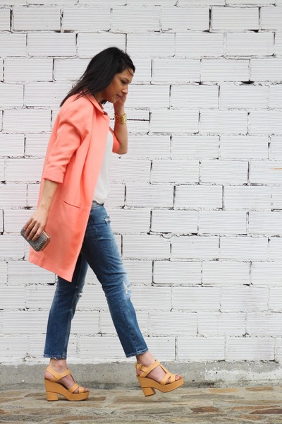 light orange coat