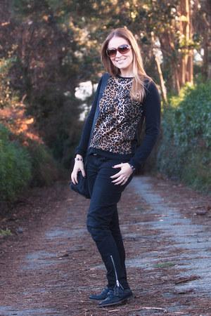 BLANCO sweater - asos boots - karen millen jeans - lupo bag - asos bracelet